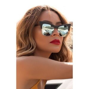 Quay x Desi Perkins Cat Eye Mirrored Sunglasses